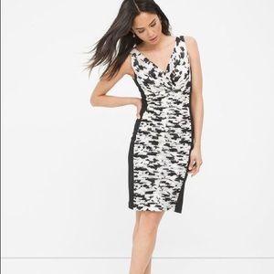 WHBM v-neck sheath dress